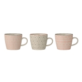 "Bloomingville Tasse ""Cécile"" Rose/Grey (3er Set)"