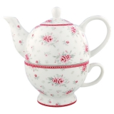 "GreenGate Set ""Tea for One"" Flora White"